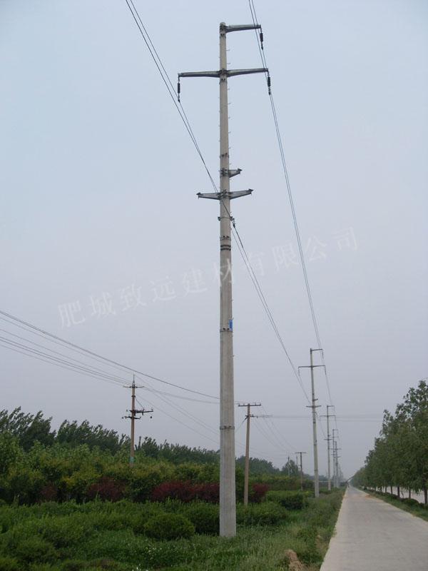 35千伏线路应用大弯矩底部法兰盘电杆